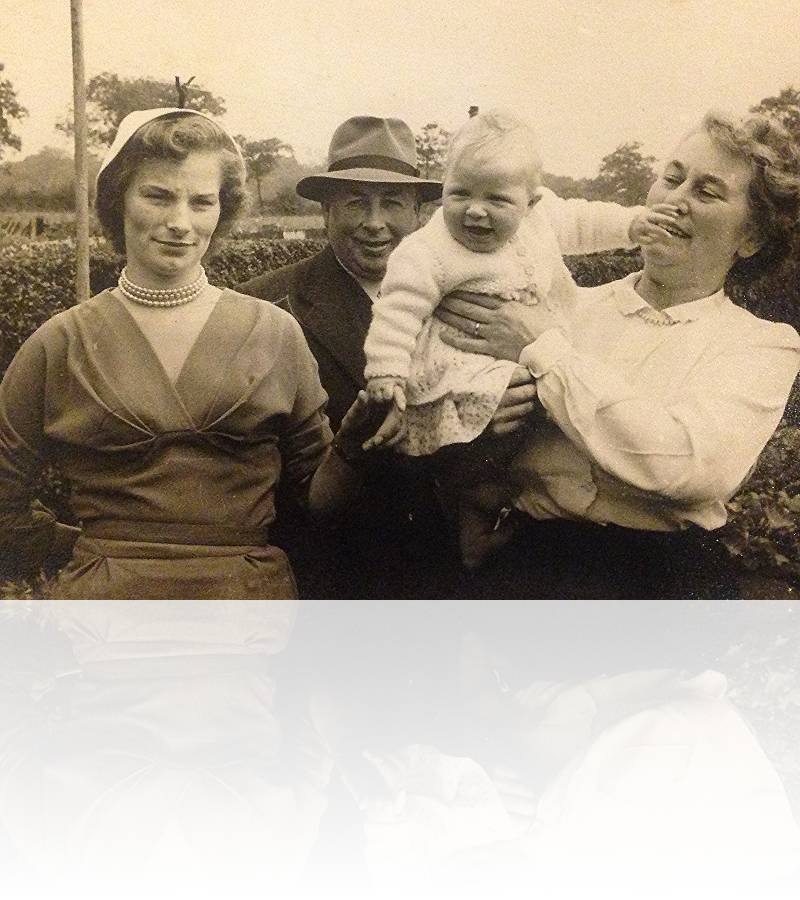 Three generations... Granny & Grandad on my dad's side with mum and a very young Elly.